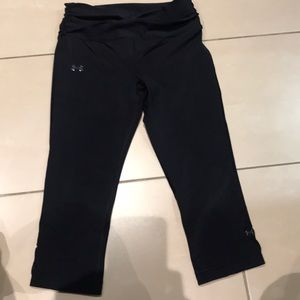 Under Armour shiny cropped work out leggings
